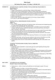 Resume Samples For Designers Learning Instructional Designer Resume Samples Velvet Jobs 31