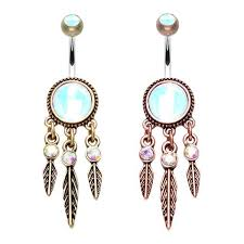 Dream Catcher Belly Button Rings Belly Button and Navel Rings Tagged Dangle Beauty Mark Body 99