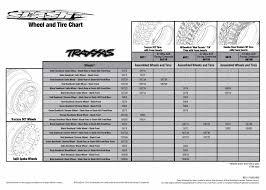 Slash 58034 1 Tire Chart Traxxas
