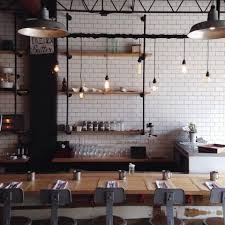 cafe lighting design. rustic style lighting used as cafe lights image via pinterest design