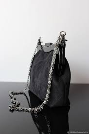 Designer Black Suede Clutch Bag
