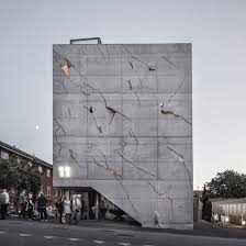 Office building facades Night Sonnesgade 11 By Sleth Interior Design Danish Office Building By Sleth Features Cracked Concrete Facade