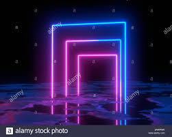 Neon Light Spectrum Glowing Lines Neon Lights Abstract Psychedelic Background