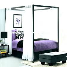 Queen Canopies Full Size Canopy Bed Wood Canopy Bed Frame Queen ...