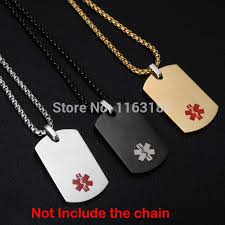 12pcs lot military army id whole personalized stainless steel pendant rectangle necklace jewelry name blank