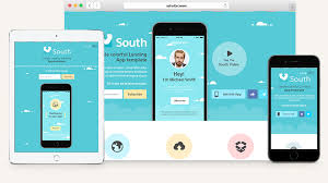 South HTML5 App Landing Page | Html5 Website Templates | Pixeden