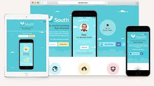 South HTML5 App Landing Page | Html5 Website Templates | Pixeden