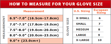 Copper Fit Gloves Size Chart Sizing Chart Dokiwear