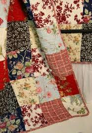 Patchwork Quilts & Patchwork quilt in reds and cream Adamdwight.com