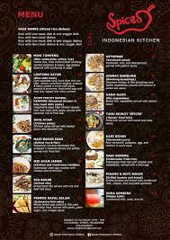 Soup Kitchen Menu Spices Indonesian Kitchen Menu Urbanspoon Zomato
