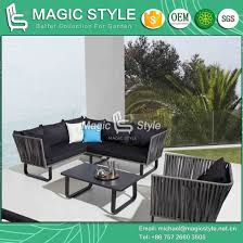 garden wicker corner sofa set with cushion patio 3 seat wicker sofa outdoor rattan sofa set aluminum coffee table rattan sofa with pillow