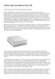 Article Labor Day Mattress Sale 29 What No person Tells You
