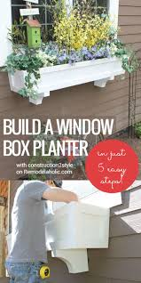 build a window box planter in 5 easy steps add curb appeal and improve your boxed ice office exterior