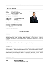 Hotel General Manager Resume Mesmerizing Cv Lester Resumido Julio 48