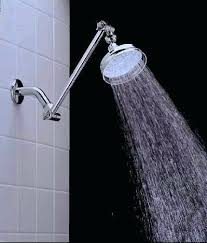 adjule shower arm extension wall
