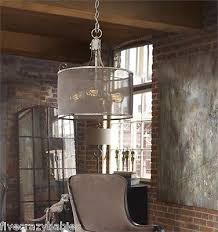 16 rustic vintage industrial style white pendant chandelier cottage chic