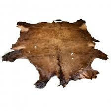 second quality buffalo bison robe hide rug 2085