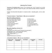 Sales Goals Template Sales Goals And Objectives Template Marketing Plan Smart