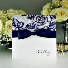 vintage rose blue wedding invitation olivia samuel personalised wedding invitation