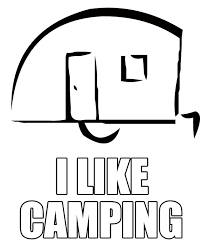 Camper Trailer Colouring Pages Camping Themed Coloring Pages