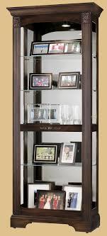 Corner Kitchen Curio Cabinet Howard Miller Ricardo 2 Way Slider Walnut Collectors Curio Cabinet