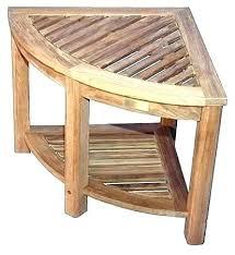 teak bathroom stool bamboo shower seat best bench corner solid with shelf interior bath uk bes