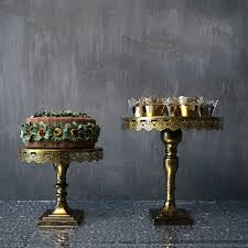 Dinnerware Display Stands Enchanting Vintage Gold Cake Stands Iron Metal Cupcake Display Stand Wedding