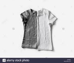 Zwei Leere Weiße Und Graue T Shirts T Shirt Mockup Für Ihr Design
