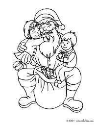 Small Picture Santa claus with happy girl and boy coloring pages Hellokidscom