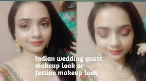 indian wedding guest makeup tutorial or