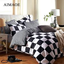 Modern Bedding Quilts – co-nnect.me & ... 2016 Black And White Striped Plaid Bedding Quilt Wind Modern Style 4  Adults Children Love Modern ... Adamdwight.com