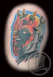 Tattoo Of Men With Stylish Mask