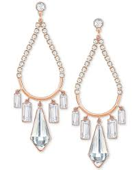 swarovski rose gold tone crystal chandelier earrings