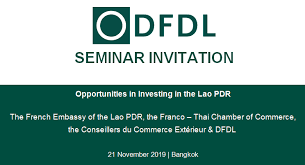 Dfdl Seminar Invitation Opportunities In Investing In The Lao Pdr