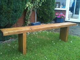 reclaimed rustic chunky solid pine garden bench seat