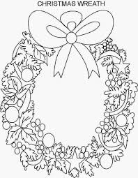 Wreath Coloring Page Kids Christmas Pages 6 Futuramame