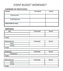 Sample Event Budget New Expense Summary Template Zeneico