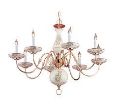 crystorama 8 light polished brass chandelier