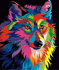Buy Colorful <b>Wolf</b> Diamond Painting Kit at 30% Off | Pretty Neat ...