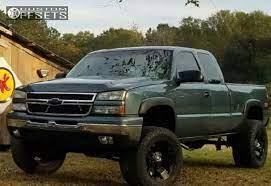 2007 Chevrolet Silverado 1500 Classic Wheel Offset Aggressive 1 Outside Fender Suspension Lift 6 172335 Custom Offsets