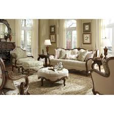 Michael Amini Living Room Furniture Michael Amini Lavelle Melange Wood Trim Tufted Sofa By Aico For