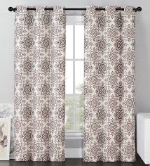 vcny sylvia room darkening blackout curtains grommet thermal 2 panel set brown medallion 84 length