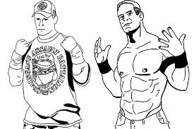 Small Picture John Cena Coloring Pages To Print Pictures Coloring John Cena