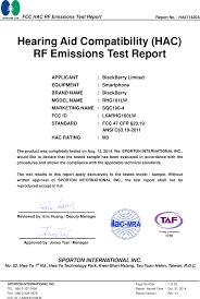 Blackberry Comparison Chart 2014 Rhg160lw Smartphone Test Report Hac Rf Blackberry