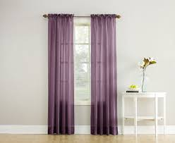 crushed sheer voile solid sheer rod pocket single curtain panel