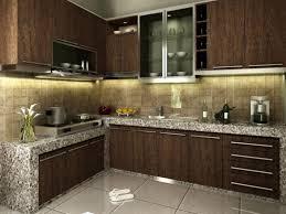 affordable kitchen furniture. Elegant Kitchen Interior With Brown Furniture Affordable