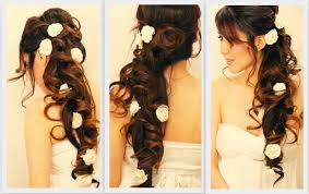Elegant Prom Hair Style  elegant sideswept curls wedding prom hairstyles tutorial 3042 by wearticles.com