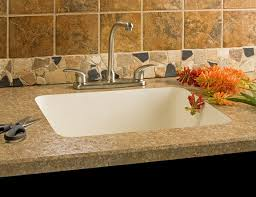 one piece sink and countertop for kitchen interior design ideas