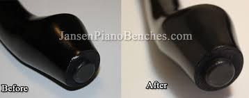 piano scratch repair example