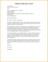 Letters Of Complaints Samples Complaints Register Template